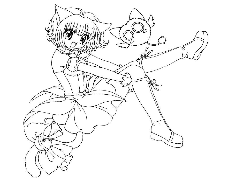 Раскраски с аниме для малышей