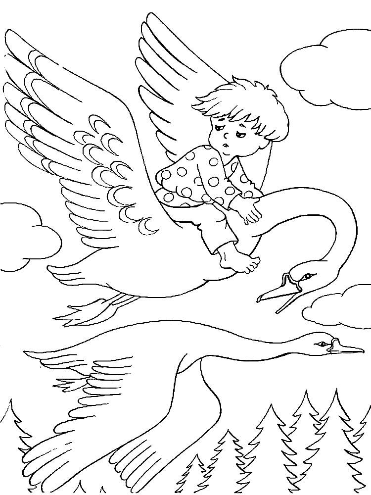 Герои сказок - детские раскраски