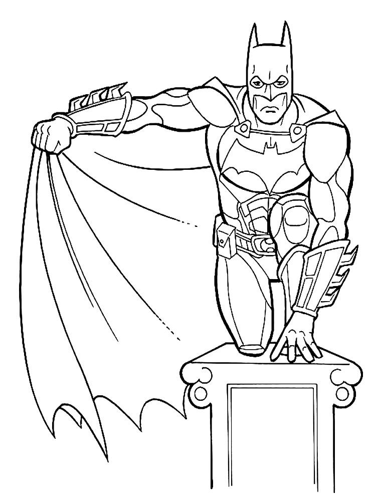 Раскраски для мальчиков и девочек с Бэтменом
