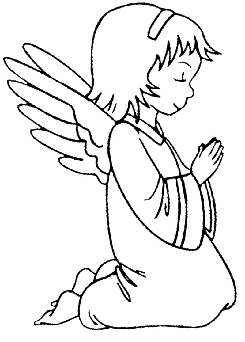 Раскраски ангелочки картинки 145