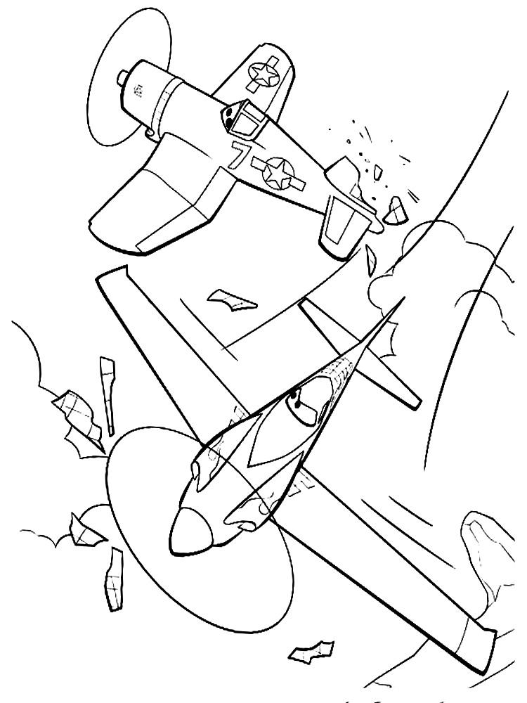 Распечатать на принтере раскраски с Самолетами для детей