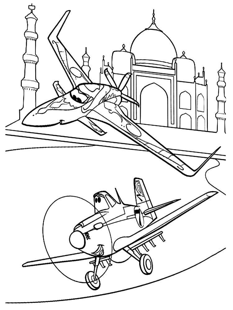 Распечатать раскраски Самолеты для малышей