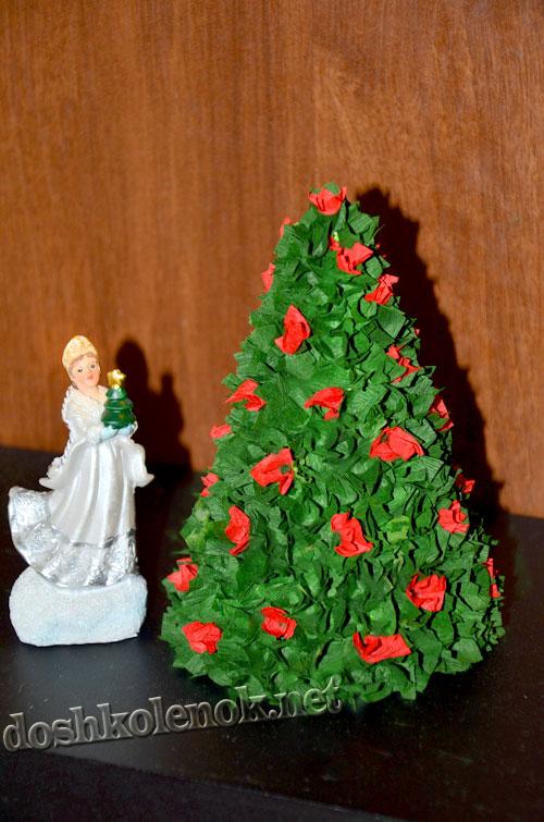 Гофрированная елка своими руками из бумаги