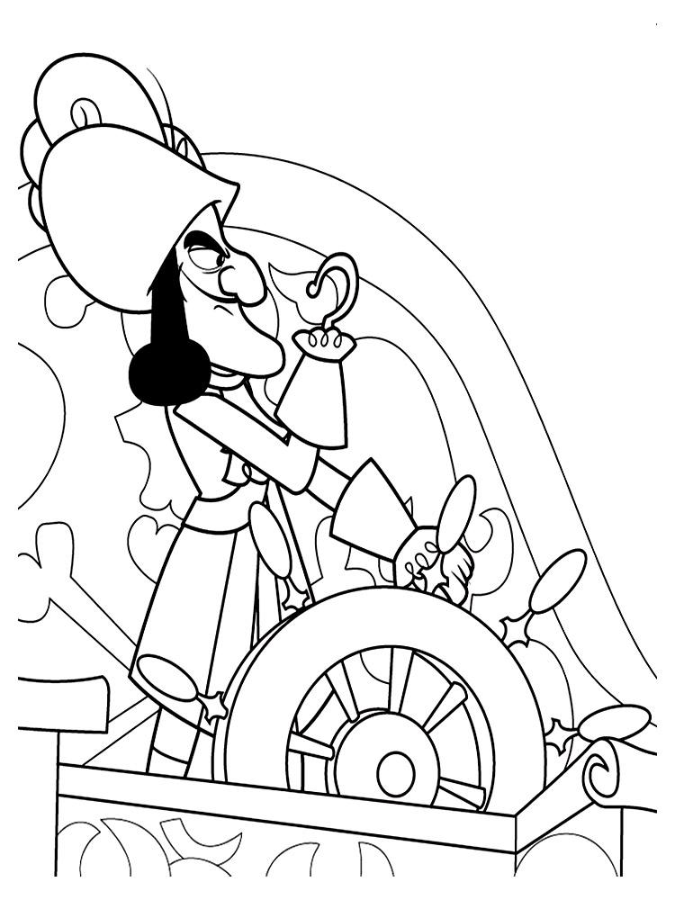 Раскраска джейк пираты нетландии
