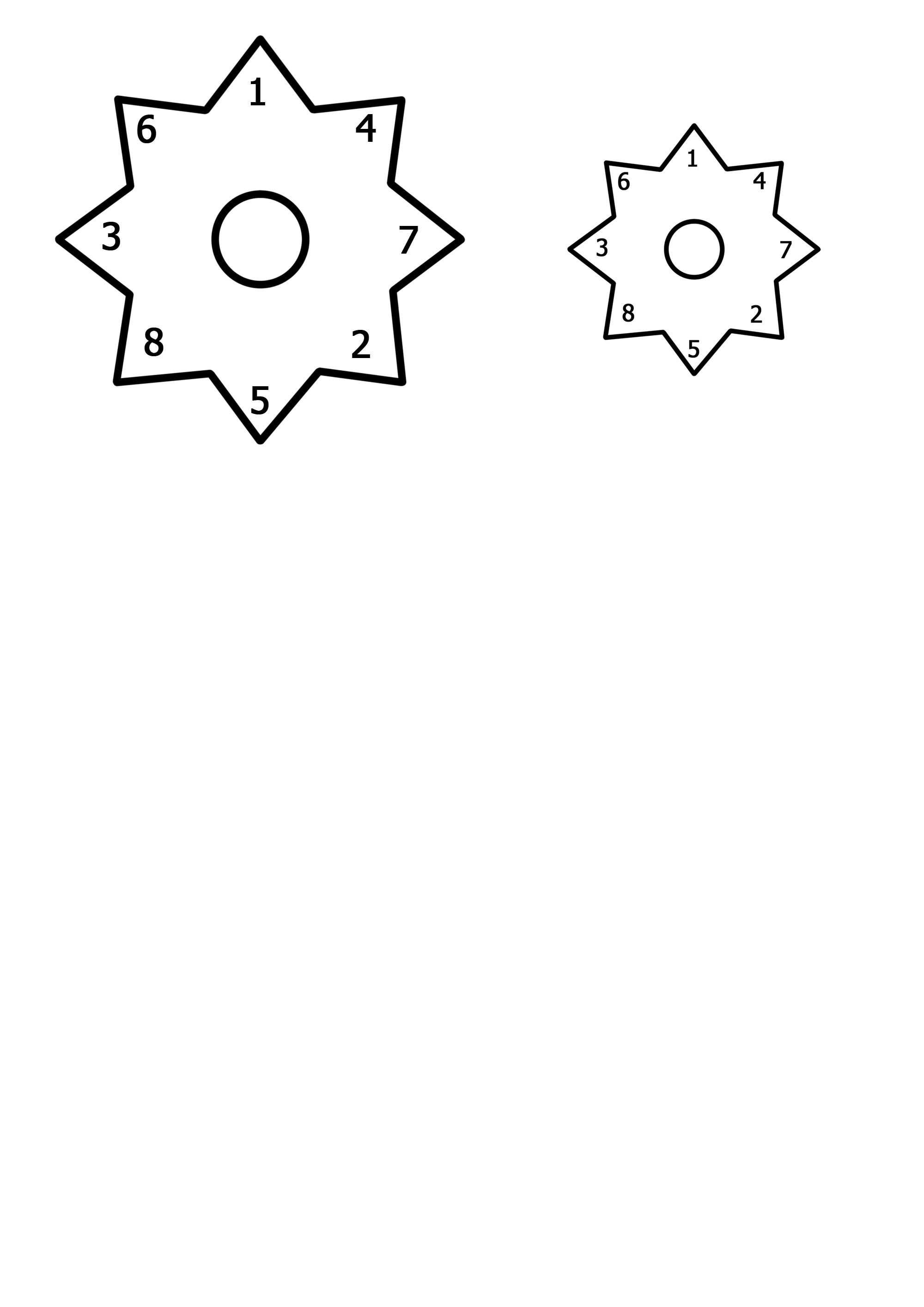 Шаблон звездочка для бантиков своими руками 27