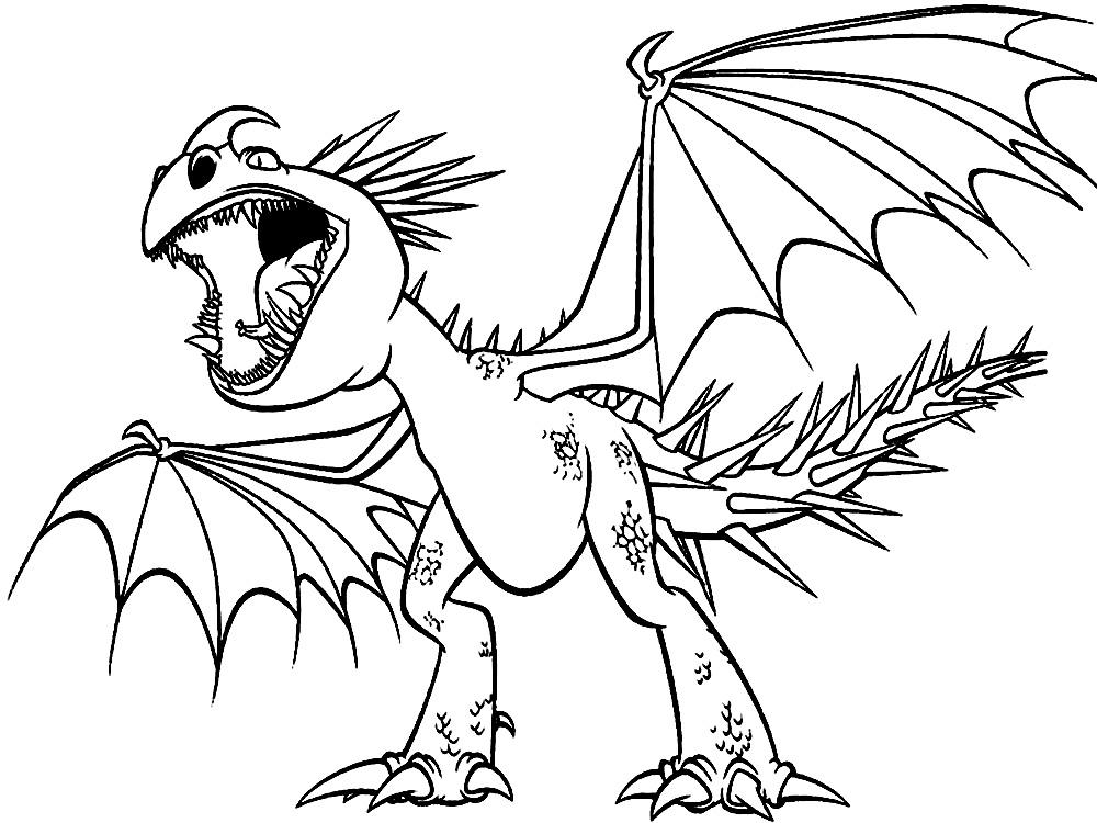 Как приручить дракона - детские разукраски