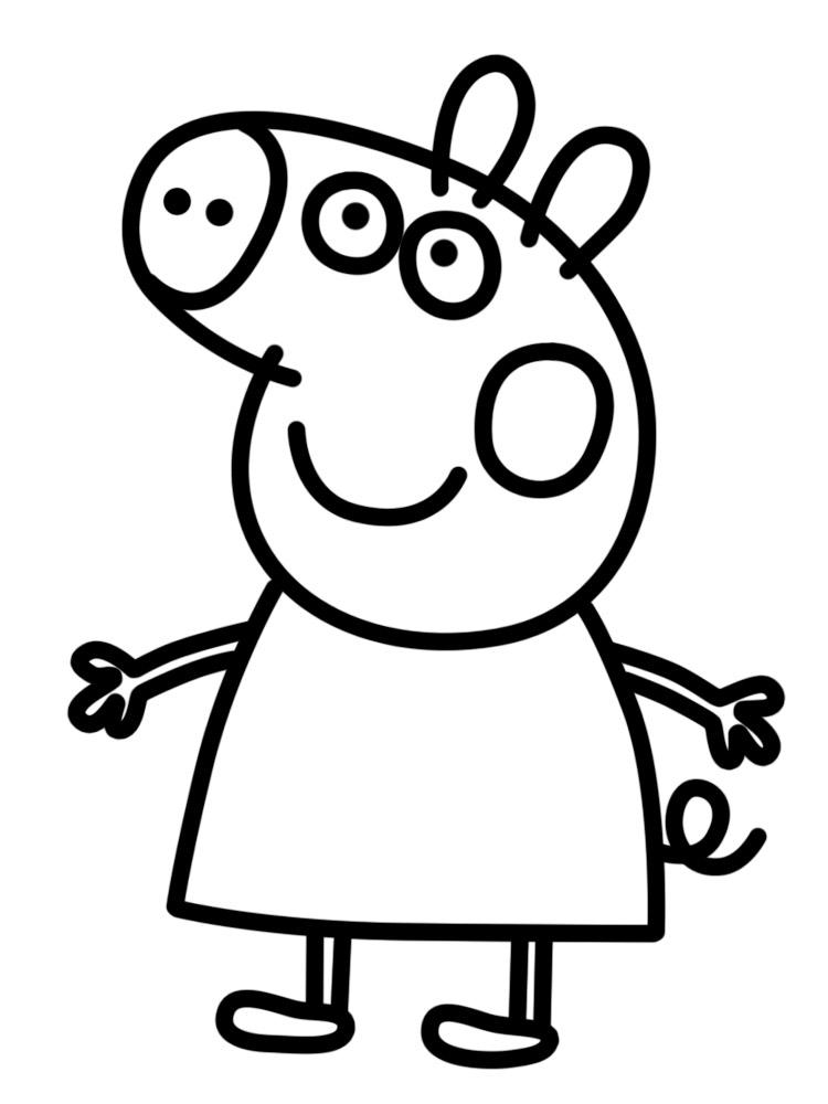детские раскраски свинка пеппа распечатать на принтере