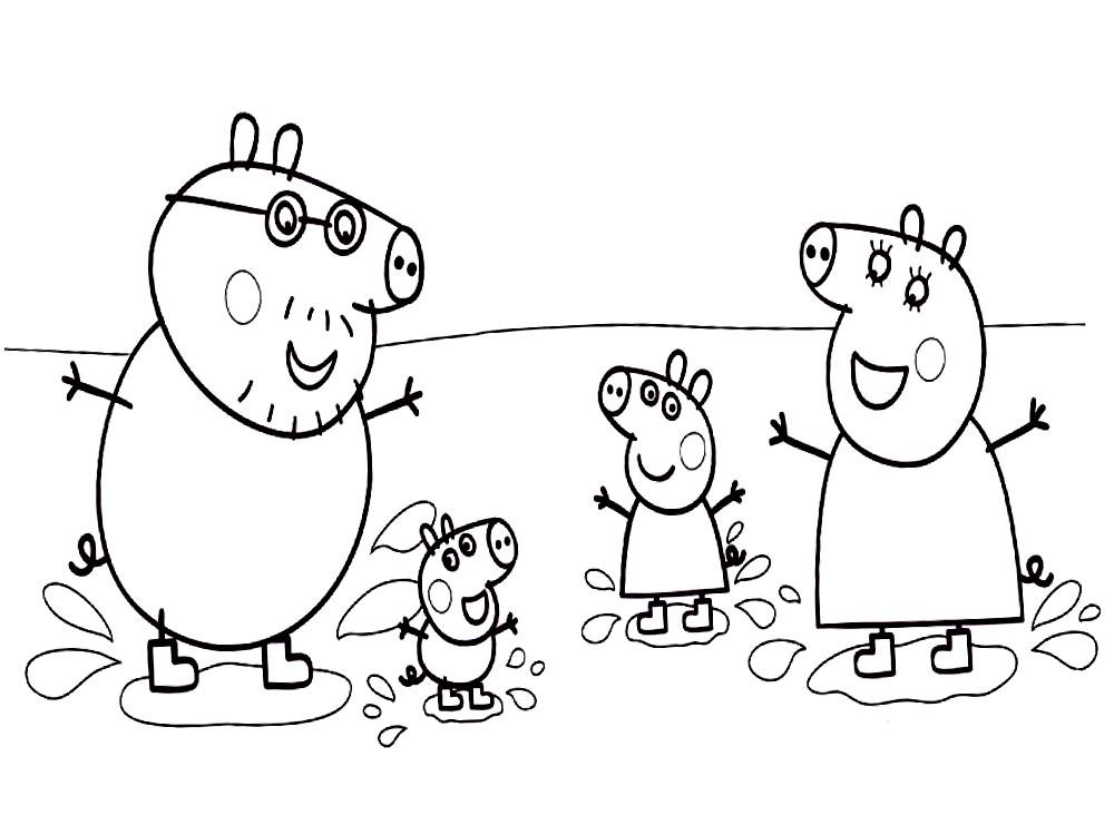 Раскраска для малышей свинка пеппа - 3