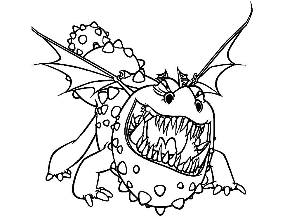 раскраски с как приручить дракона для малышей