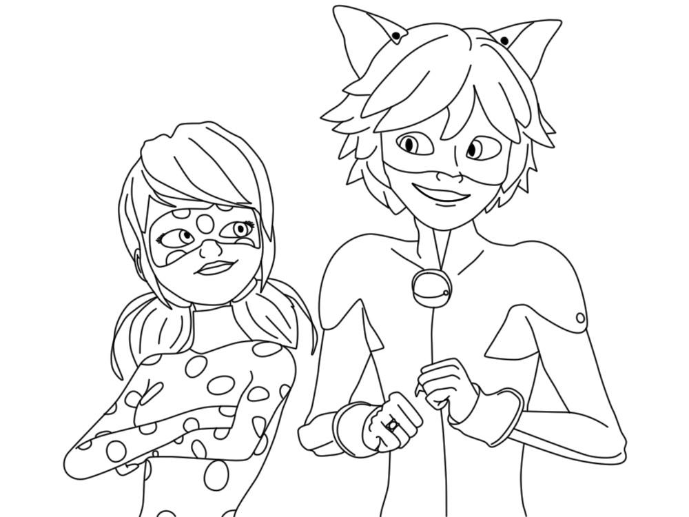 раскраски для малышей леди баг и супер кот