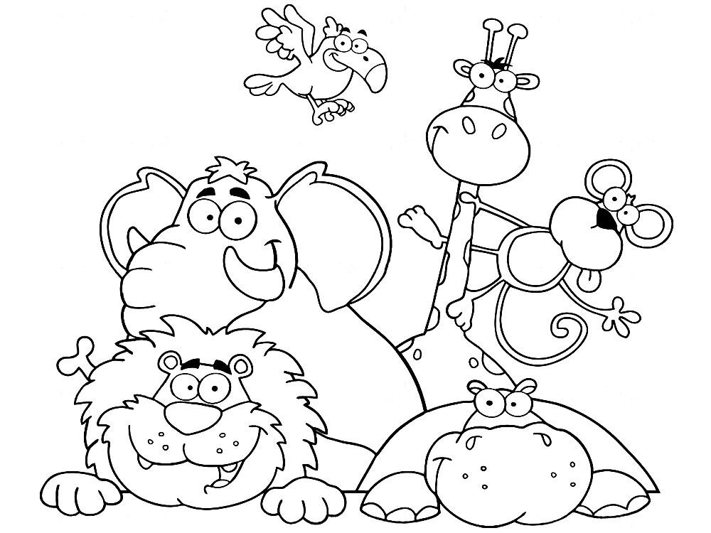 Раскраски о животных для детей онлайн
