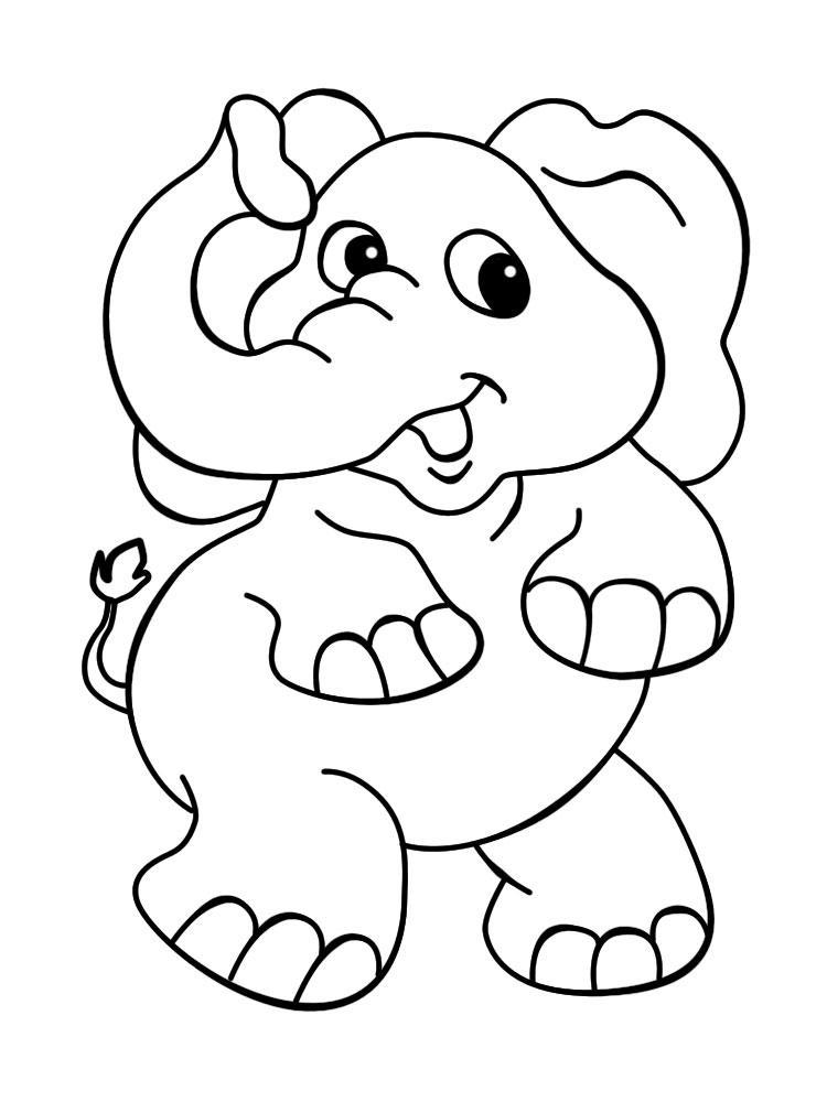 африканские животные раскраски для девочек печатайте на