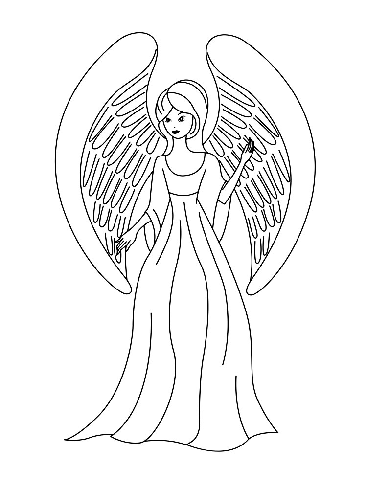 Раскраски ангелочки картинки 59