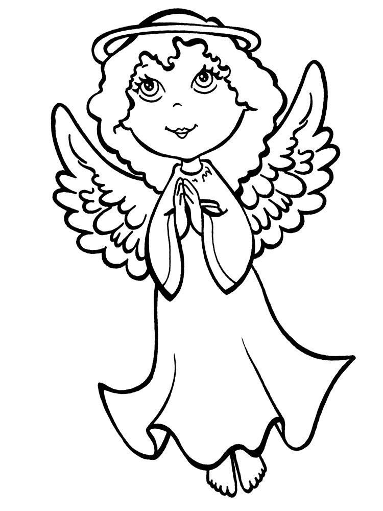 Раскраски ангелочков