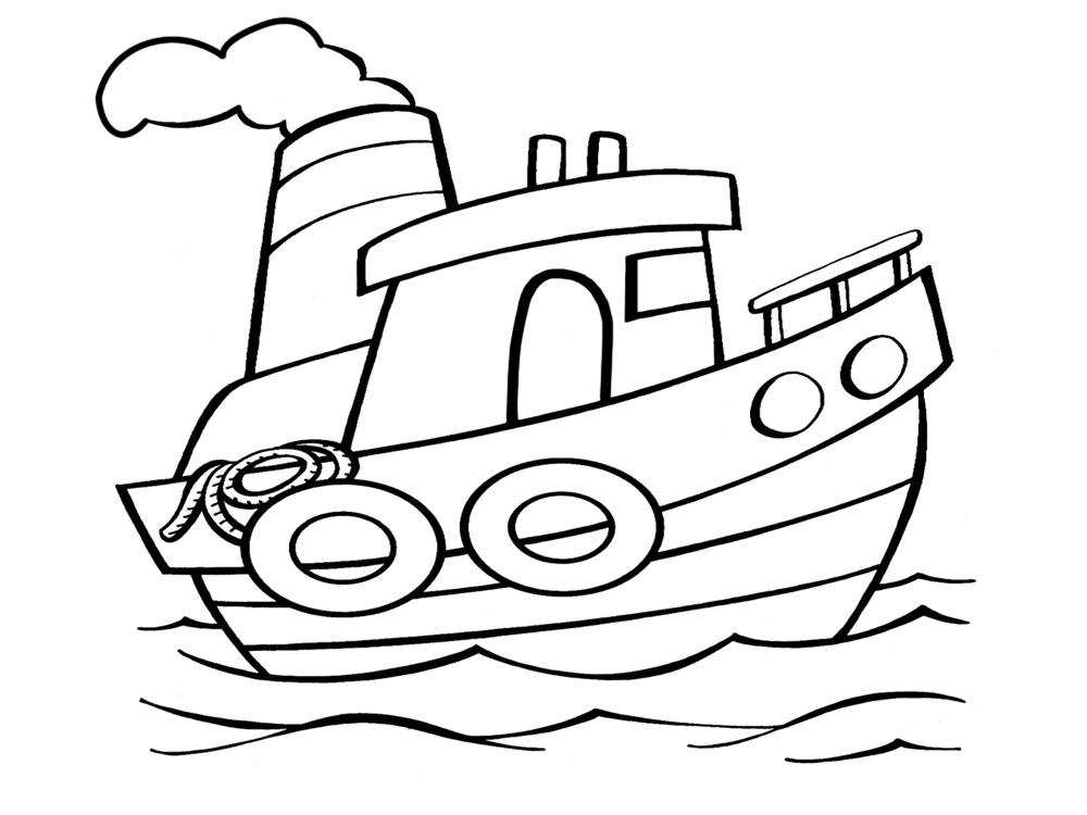 раскрашивания картинка корабль для