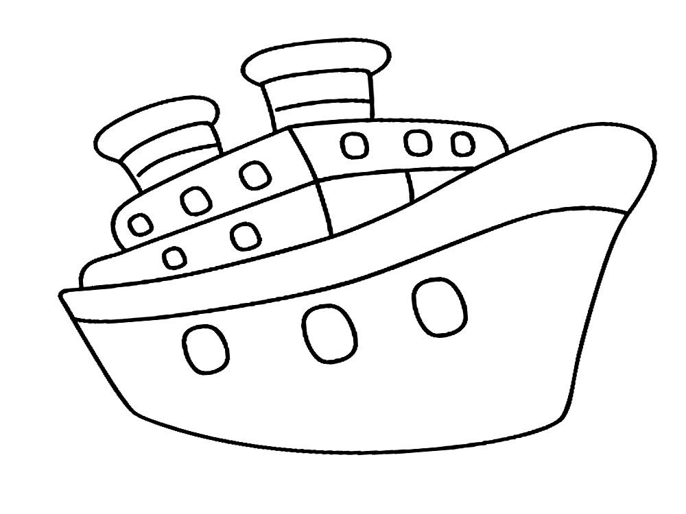 печатайте раскраски с кораблями и радуйте своих малышей