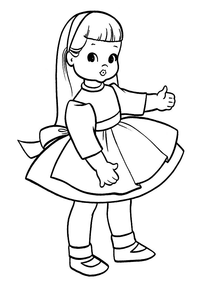 черно белая картинка кукла