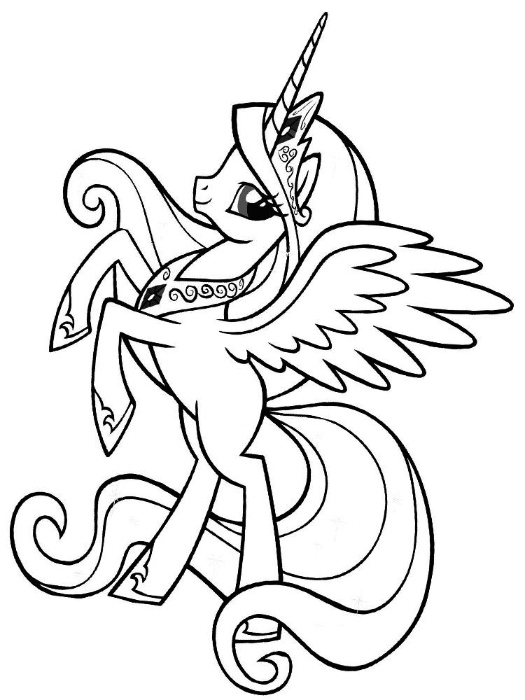 Распечатать на принтере раскраски с Моя маленькая пони для ...