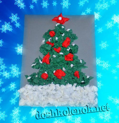 Новогодние открытки с елкой внутри своими руками